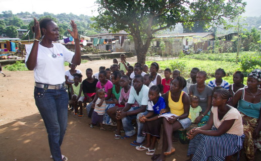 In Sierra Leone, we support the YMCA transform the lives of young people from slum communities. You can apply to volunteer for a project like this today. Photo: Nile Sprague