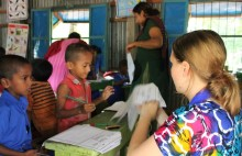 International Citizen Service help the local community to prepare for disasters and support teaching at non-formal primary schools.