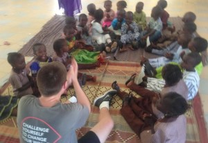 Our young volunteers have been working in communities badly affected by conflict.
