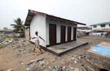 Y Care International has been working with the Liberia YMCA and the communities to build latrines to reduce the risk of illness in West Point slum. Photo/Ahmed Jallanzo