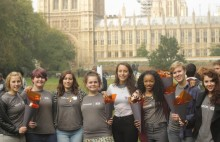 Y Care International volunteers will be handing in thousands of postcards to No.10 to highlight the UK public's opinion on international development.