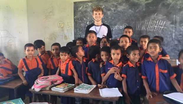 As an ICS volunteer, Alex worked with children to support their education.