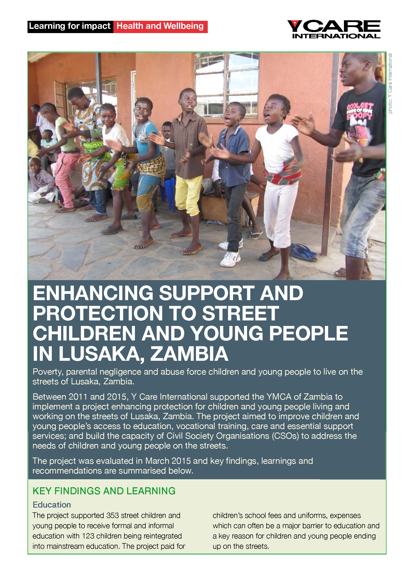 support children and young peoples health